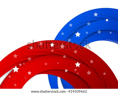 Memorial Day vector background. Holiday colorful design. Greeting card element for USA Holidays. Vector style - american flag. Eps10