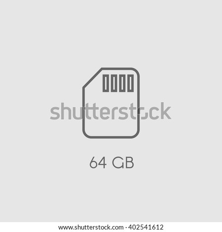 Memory card. Flat vector icon. Memory card icon art. Memory card icon picture. Memory card icon image. Memory card icon sign. Memory card icon logo. Memory card icon line. Memory card icon simple. - stock vector