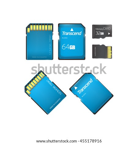 Memory card set. Vector illustration