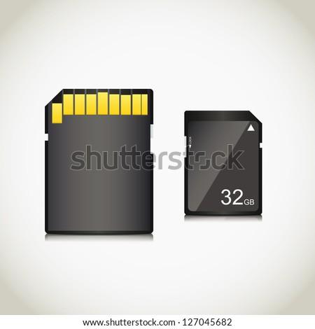 Memory card. Vector illustration - stock vector