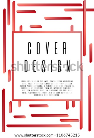 Memphis Coverage Corporate Style Text Frame Stock Vector 1106745215 ...