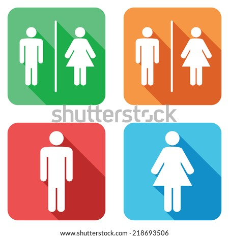 men and women toilet signs