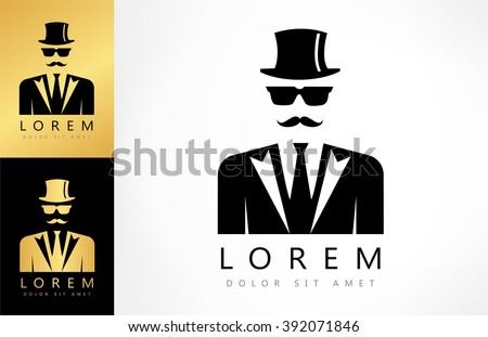 Men clothes logo - stock vector