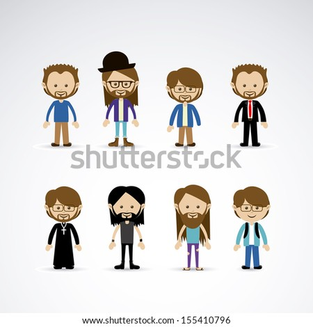 men design over gray background vector illustration  - stock vector