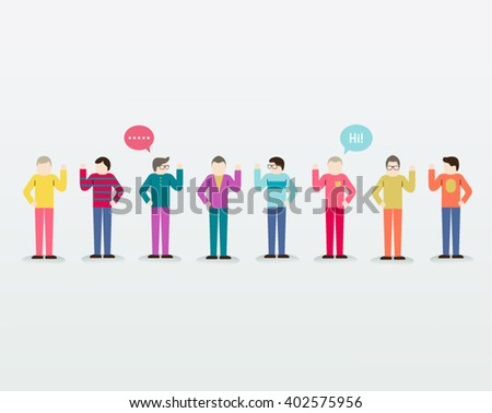 Men Gather Together People Icon Vector Design Illustration - stock vector
