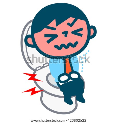 Men of hemorrhoids - stock vector