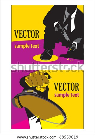 men of the Mafia - stock vector
