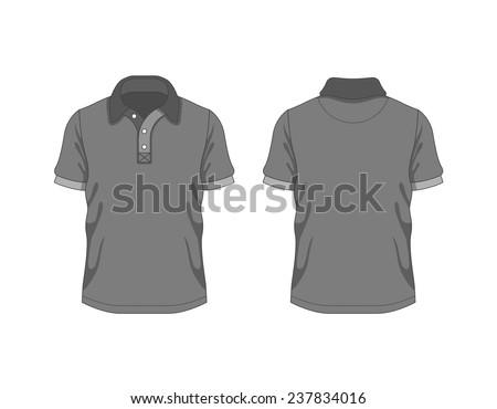 Men polo. Vector template - stock vector