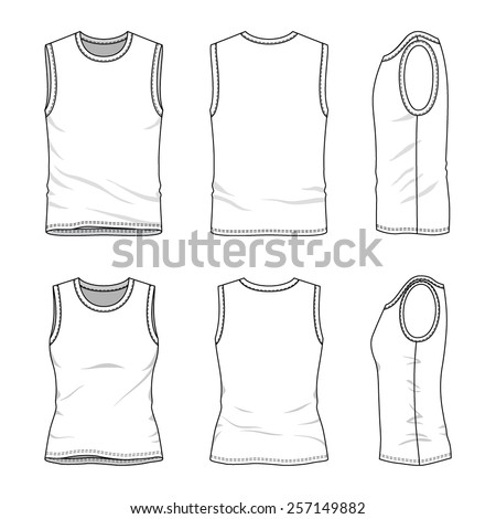 Tank top template stock images royalty free images for Vest top template