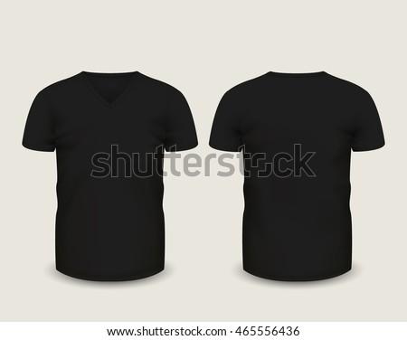 mens black tshirt short sleeve front stock vector 461672743 shutterstock. Black Bedroom Furniture Sets. Home Design Ideas