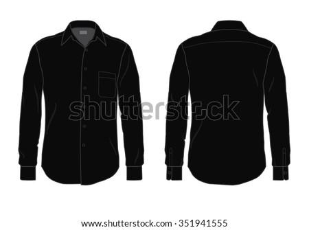 Mens Button Down Dress Shirt Template Stock Vector 351941555 ...