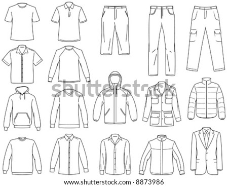 Men's clothes illustration You'll find more clothes illustrations in my portfolio - stock vector