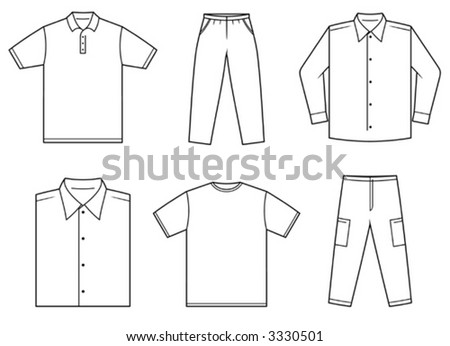 Men's Clothes - Vector Illustration. You'll find more similar images in my portfolio - stock vector
