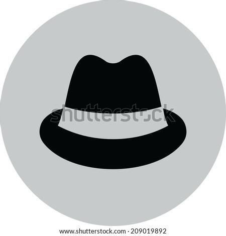 Men's hat vector icon - stock vector