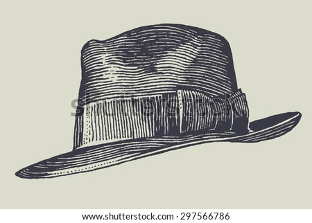 men's hat. vector illustration. - stock vector