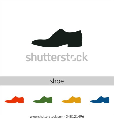 Men's shoe icon. Set of varicolored icons.