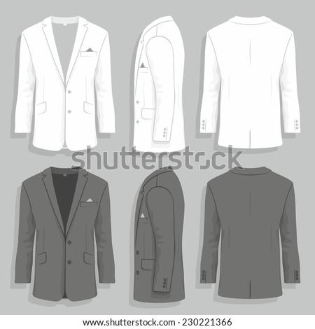 men's suit - stock vector