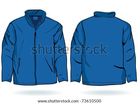 Men's sweatshirt template - stock vector