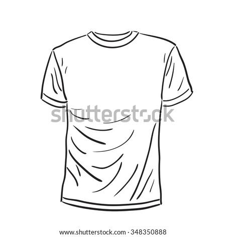 Men S Tshirt Sketch Tshirt Vector Stock-Vektorgrafik 348350888 ...