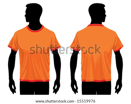 Men?s t-shirt template with human body silhouette