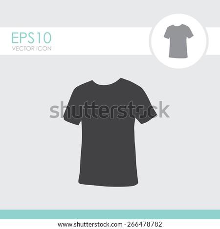 Men's t-shirt vector icon. - stock vector