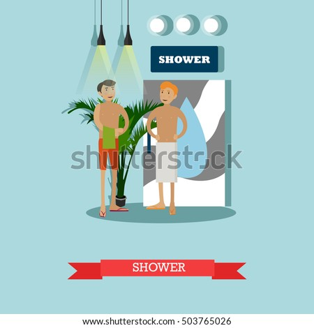 naked guys in shower