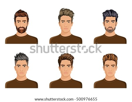 men used create hair style character stock vector royalty free