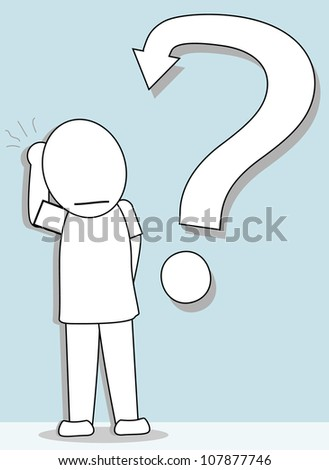 men with a question mark - stock vector
