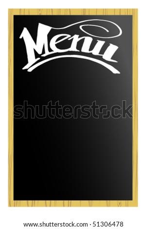 Menu - stock vector