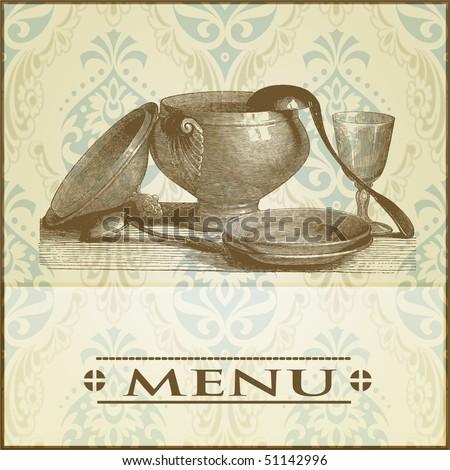 menu background - stock vector