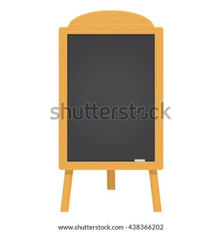 menu black board vector illustration isolated on a white background