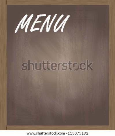 Menu blackboard vector background - stock vector