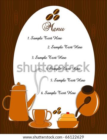 menu card - stock vector