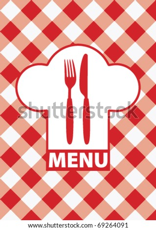 Menu Card - stock vector