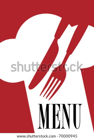 Menu Card Background - stock vector