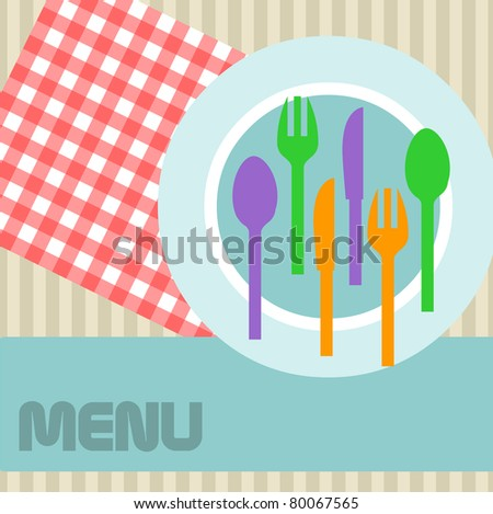 Menu card design layout,retro style,vector - stock vector