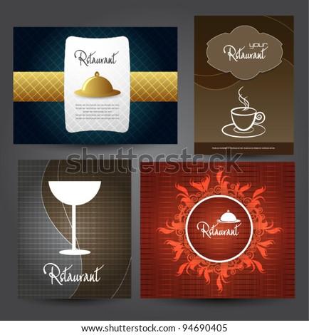 menu card design set - stock vector