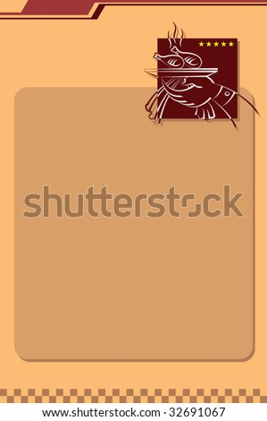 Menu Card Design template, Chicken Roast (drumstick) serving