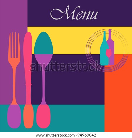 Menu card design template,copy space - stock vector