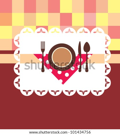 menu card design. vector illustration