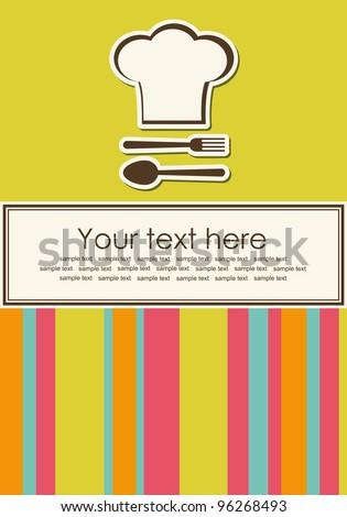 menu card design. vector illustration - stock vector