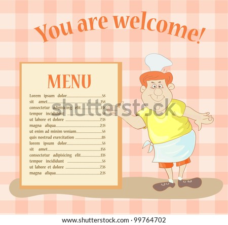 menu card design. vector illustration - stock vector