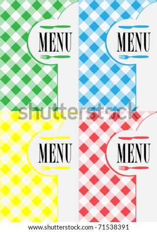 Menu Card Designs - stock vector