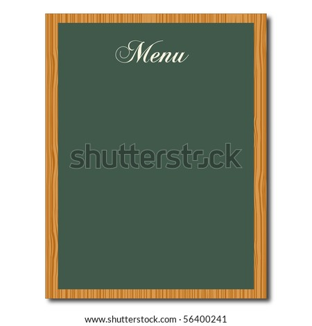 Menu Chalkboard - stock vector