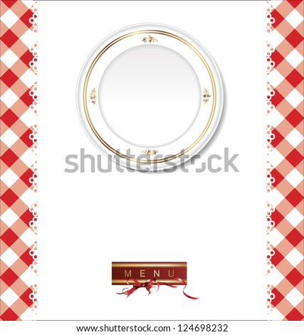 Menu design - stock vector