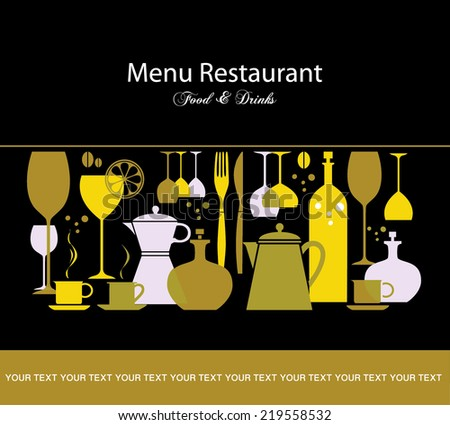 Menu design. - stock vector