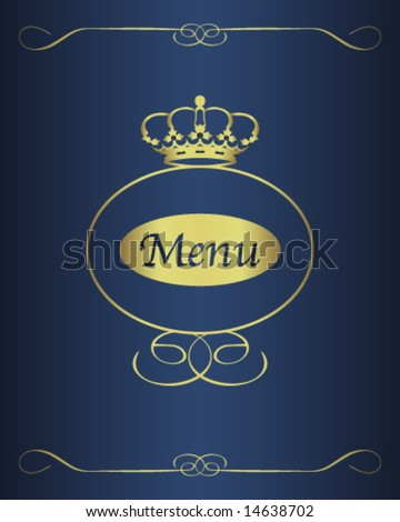 menu design background - stock vector