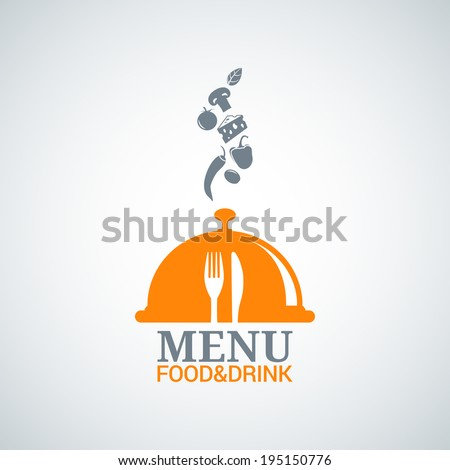 menu design food drink dishes background - stock vector