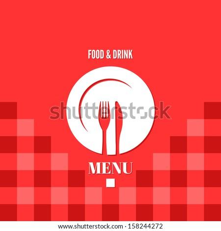 menu design food drink dishes concept - stock vector
