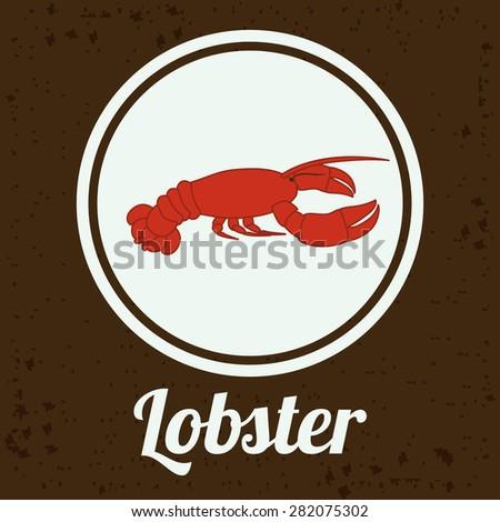 Menu design over brown background, vector illustration - stock vector